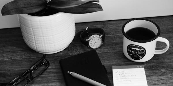 Produktivitätsmethoden Schreibtisch